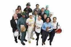 Įvairių profesijų darbuotojų grupė